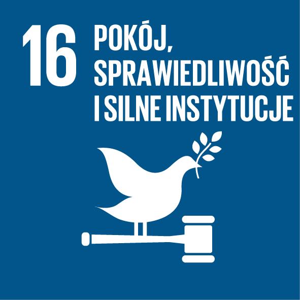 16. Pokój, sprawiedliwość i silne instytucje